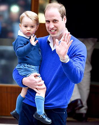 William, Duke of Cambridge and Prince George.