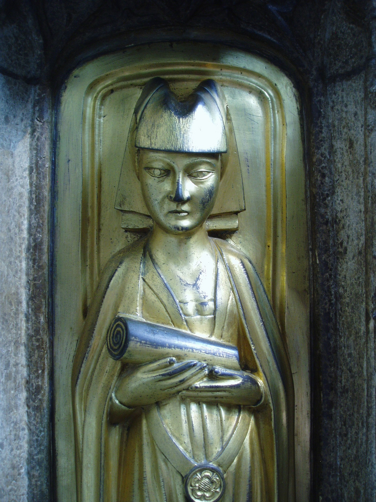 Cecily Neville, depicted on the tomb of her father in law Richard Beauchamp. Photo courtesy of Aidan McRae Thomson