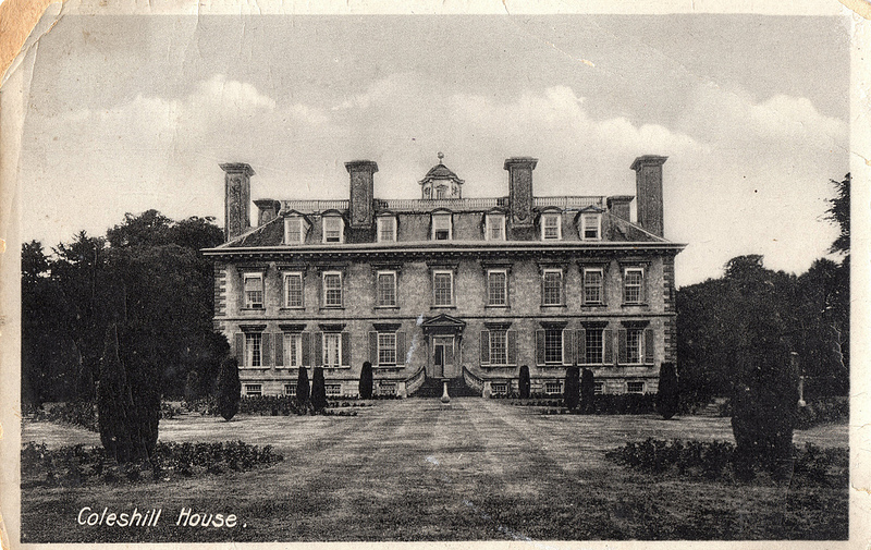 A 1930s postcard view of Coleshill House