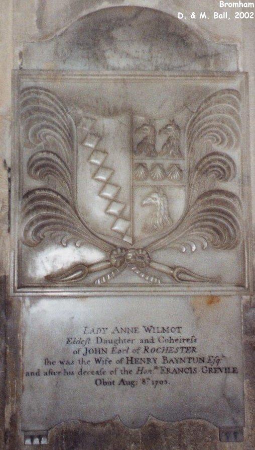 Anne Wilmot's memorial Bromham