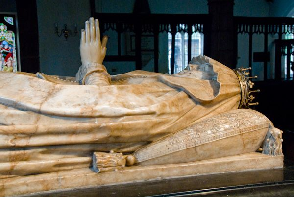 Anne Clifford's memorial to  mother Margaret, Countess  of Cumberland in St Lawrence's Church, Appleby.