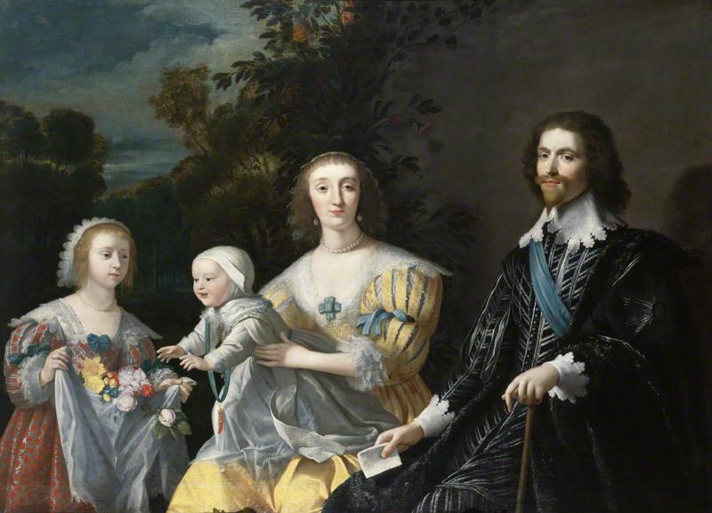 NPG 711; The Duke of Buckingham and his Family after Gerrit van Honthorst