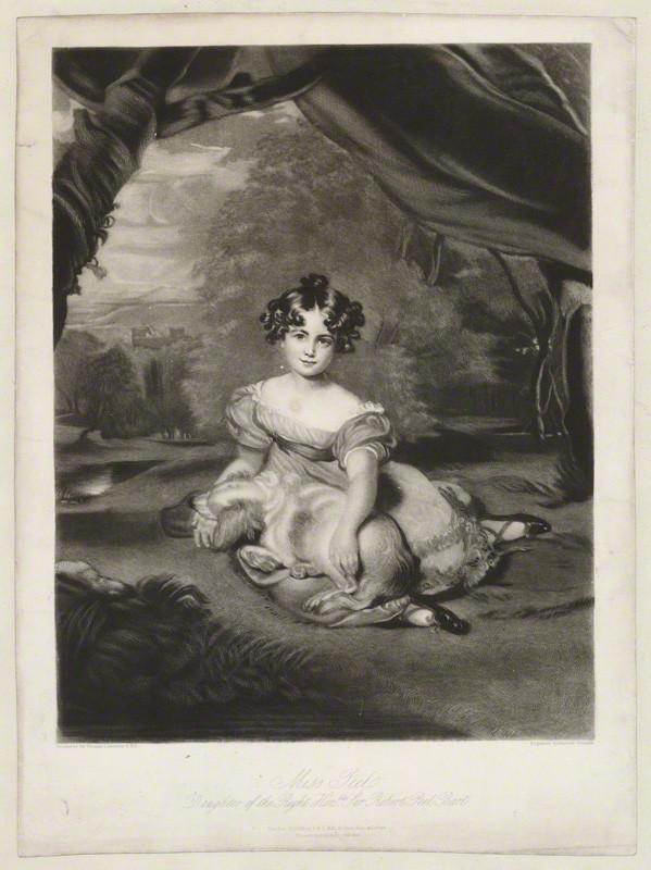 Julia Peel as a child