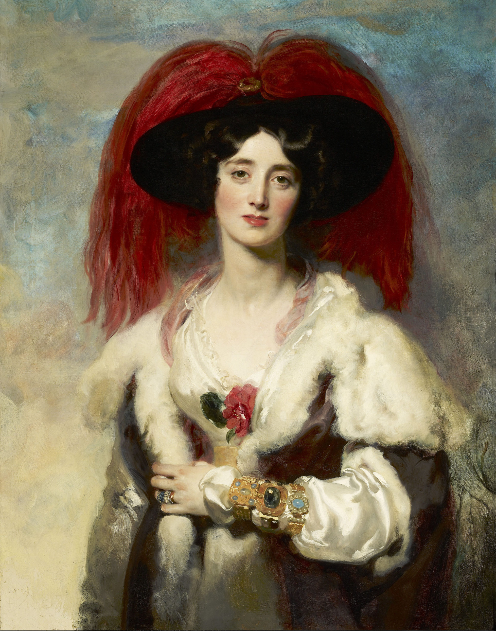 Julia, Lady Peel painted by Lawrence in 1827