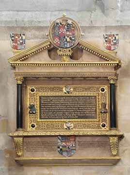 Memorial to Katherine Knollys in Westminster Abbey