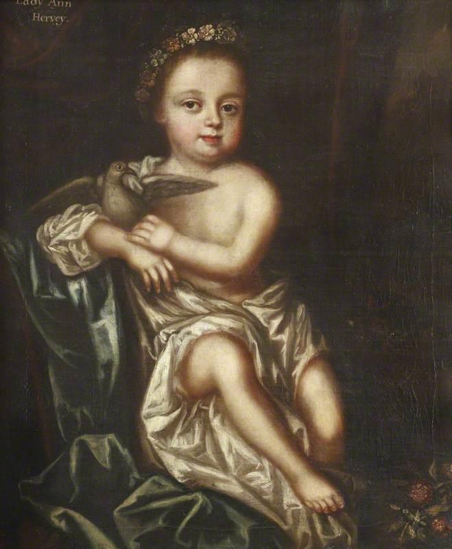 Lady Ann Hervey as a child