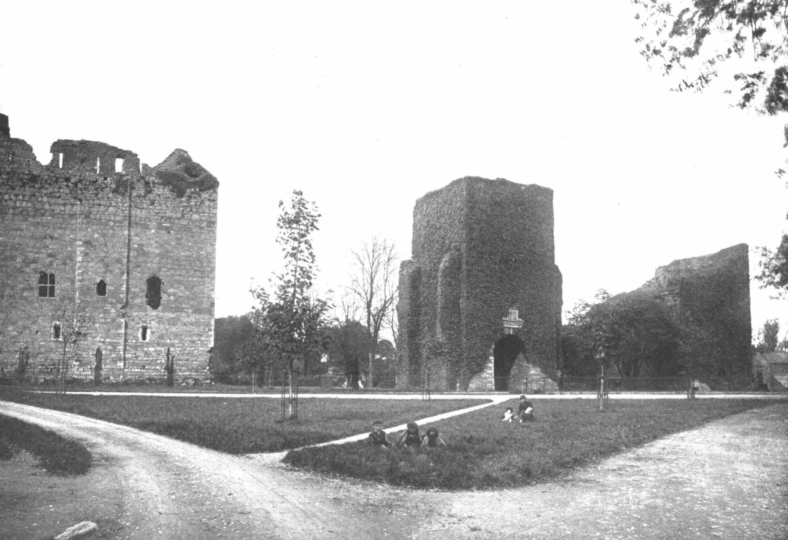 Maynooth Castle pictured in 1898