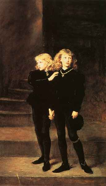 The Princes in the Tower by John Everett Millais