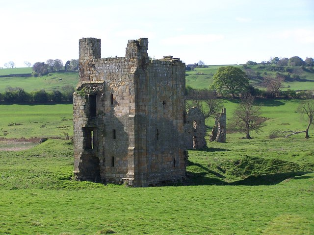 The ruins of Ravensworth Castle